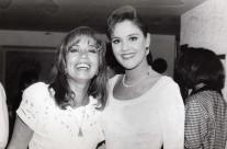 Carla Estrada y la actriz Chantal Andere