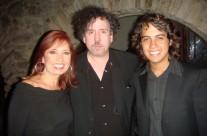 Carla Estrada, Tim Burton y Carlos Eduardo López