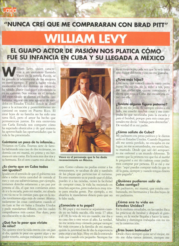 Entrevista a William Levy