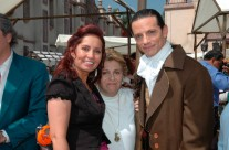 Carla Estrada en el set de Alborada