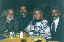 Carla Estrada con Miguel Córcega, Jorge Vargas y Óscar del Toro
